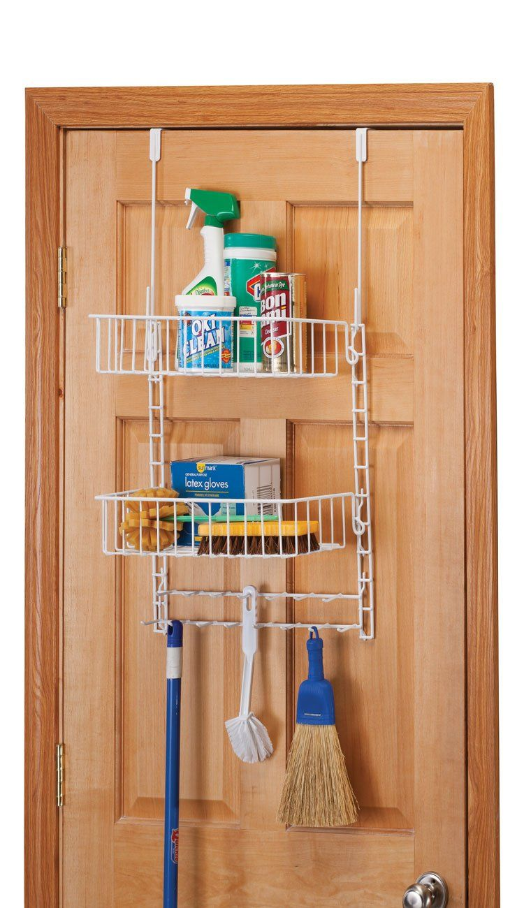 Lovely Over The Door Cleaning Supply Organizer