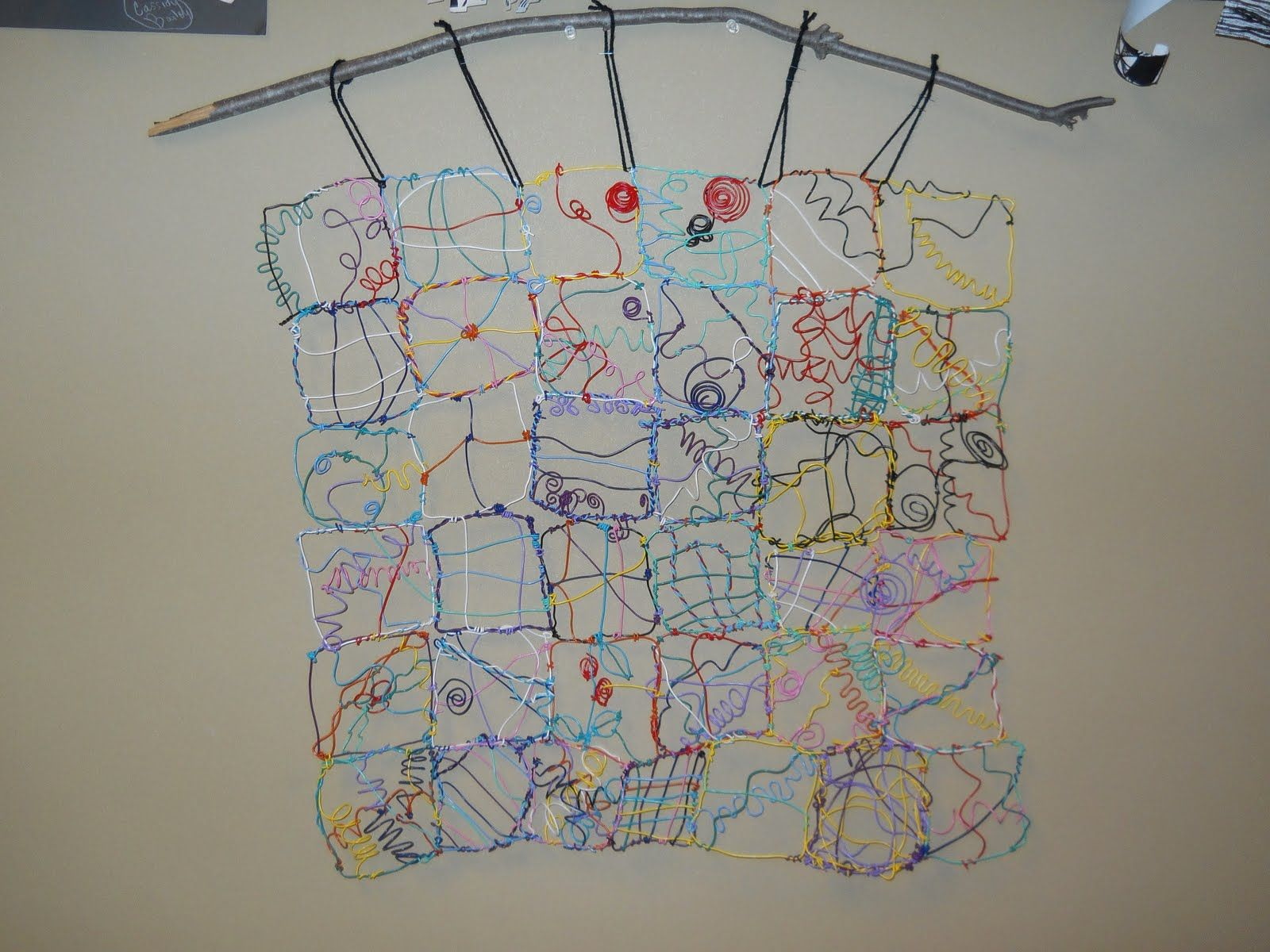 Wouldn\'t this be a wonderful ongoing project? A Wire quilt. | Art ...