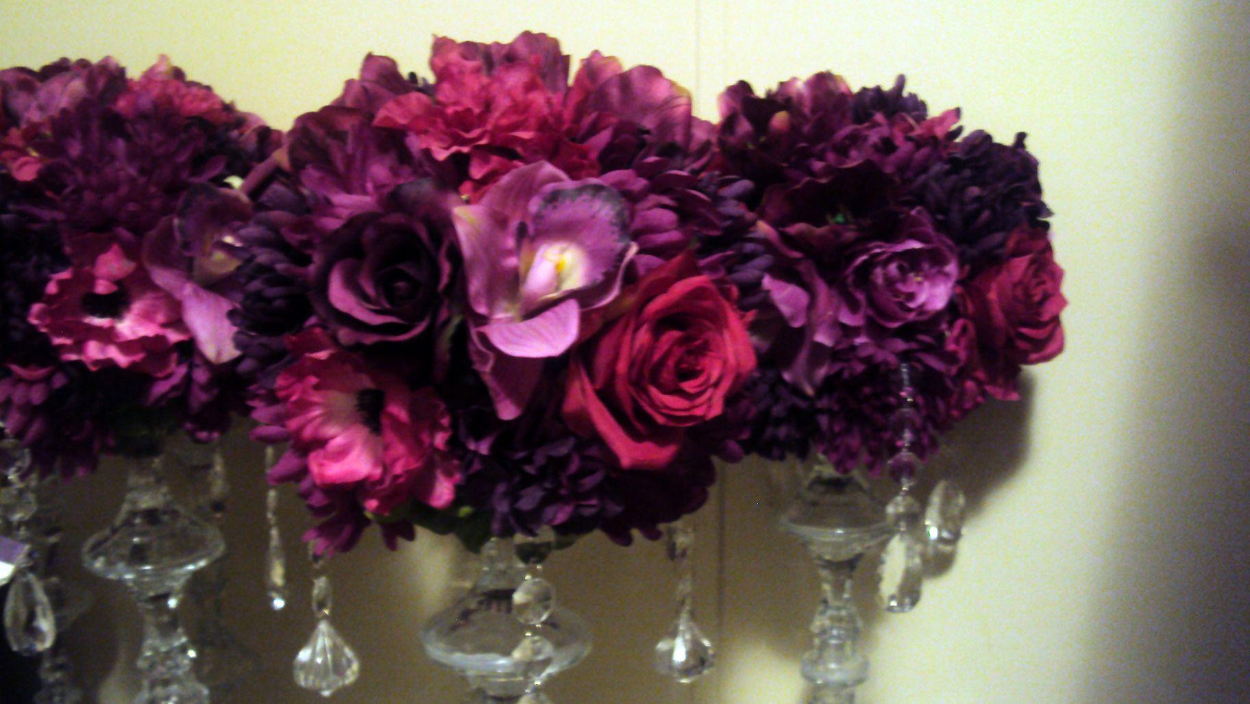 Plum Wedding Centerpieces Decor Usa Michigan Fl And Crystal