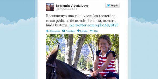 """El recuerdo de Benjamín Vicuña a Blanquita: """"Reconstruyo nuestra linda historia"""" http://www.ratingcero.com/c103884"""