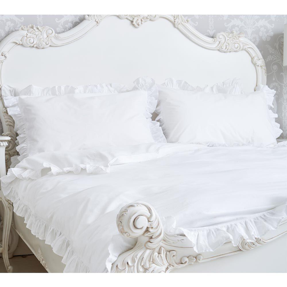 Romantic Ruffles Bed Linen In 2020 Bed Linen Sets Bed Linen