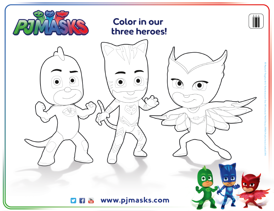 pjmask coloringsheet disneyjunior A Birthday