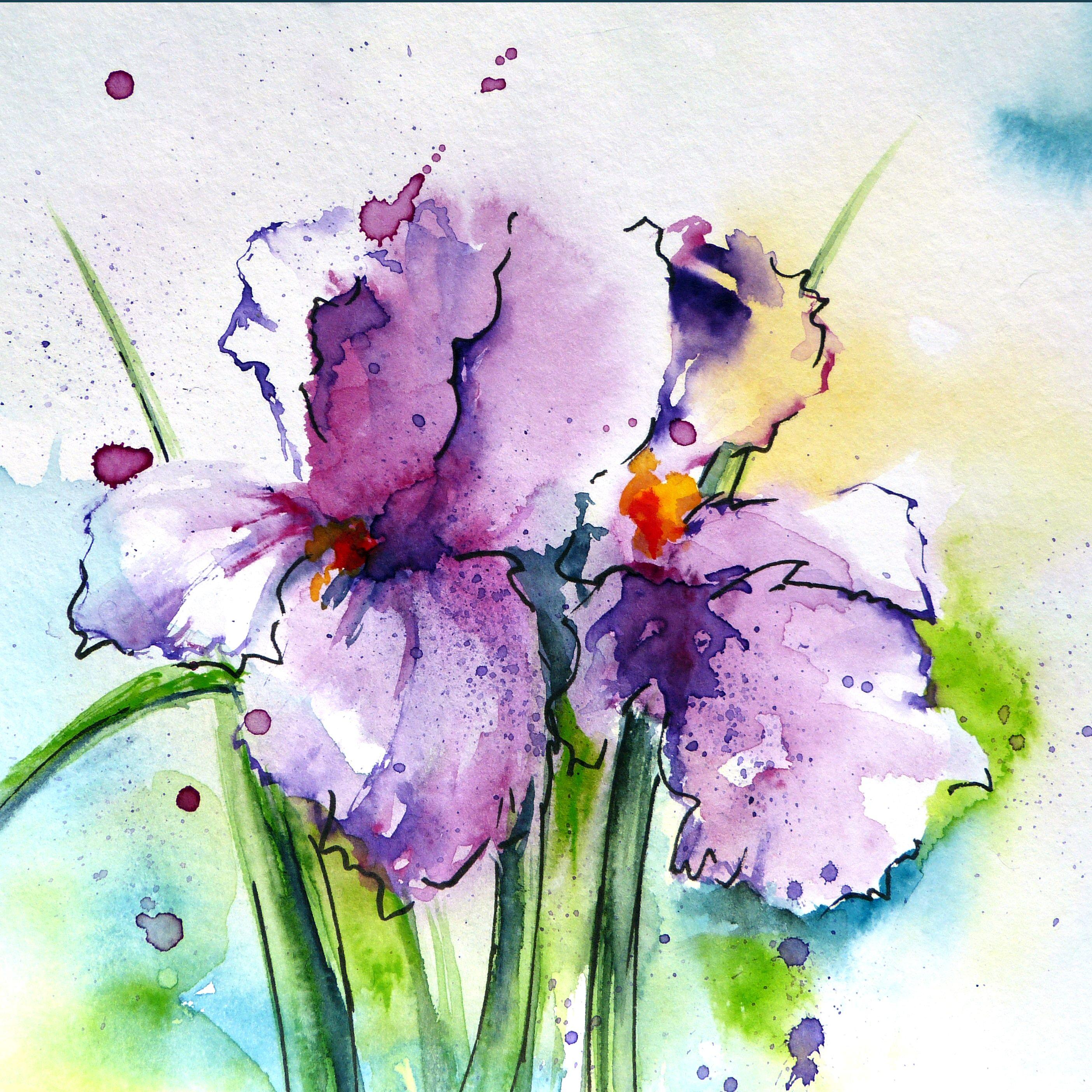 каждом рисуем цветы акварелью картинки класс изготовлению новогоднего