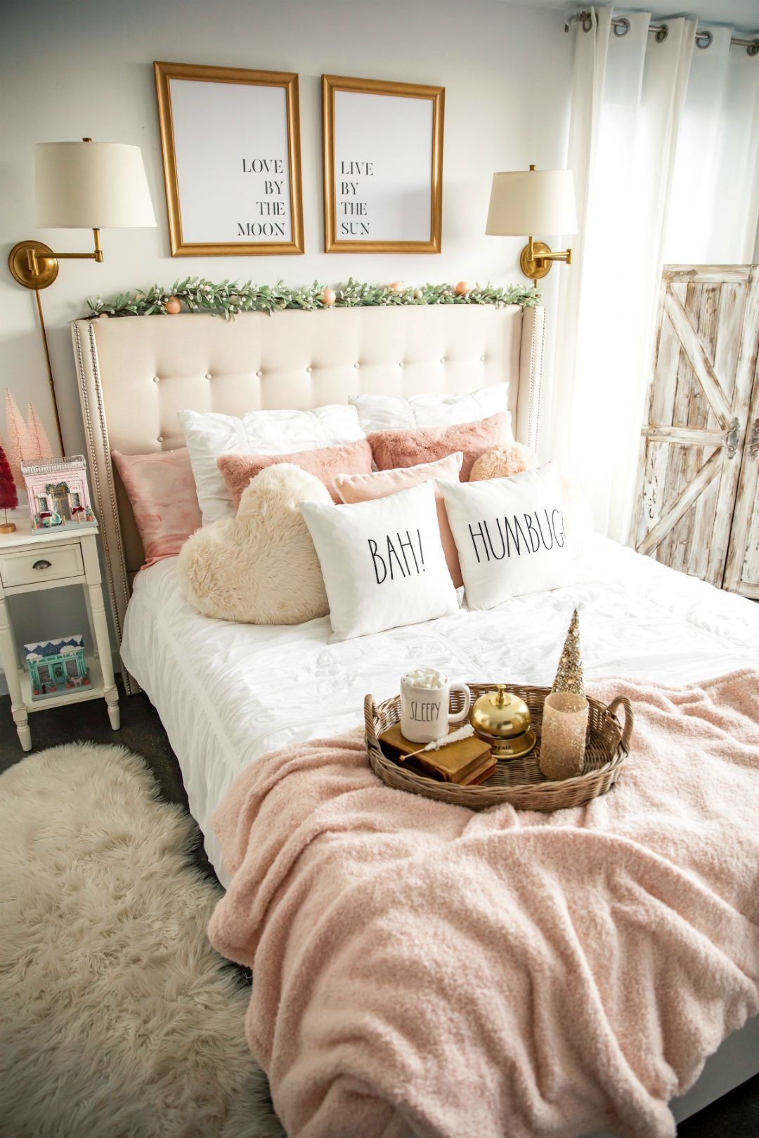 Blush Christmas Bedroom Decoration The House Of Sequins Bedroom Setup Gold Bedroom Decor Christmas Decorations Bedroom