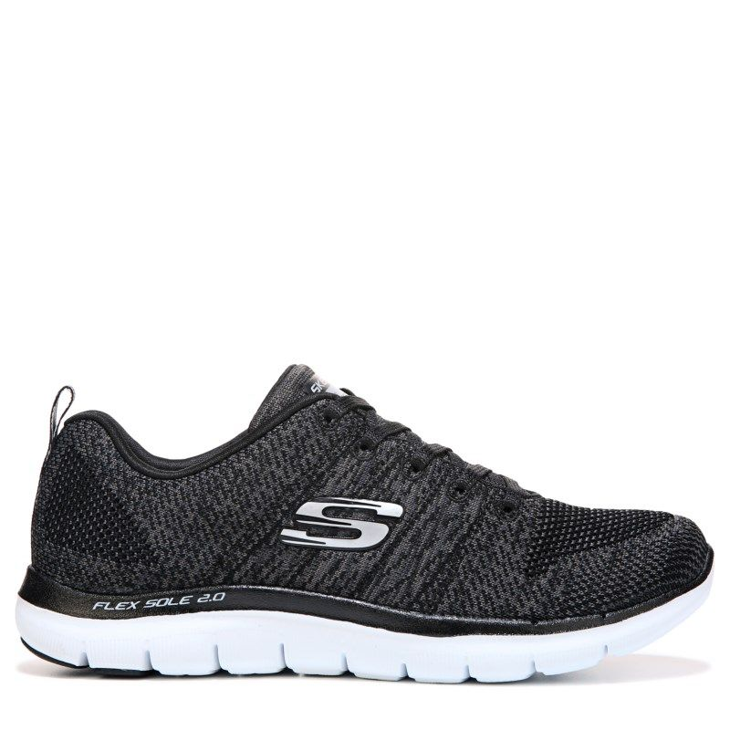 Shoes SKECHERS Sharp Thinking 12418BKW BlackWhite