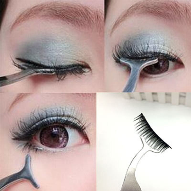 76d36dc80a5 1pc False Fake Eyelashes Clip Stainless Steel Eye Lash Eyelash Curler  Mascara Applicator Beauty Makeup Cosmetic Tool Hot Gift
