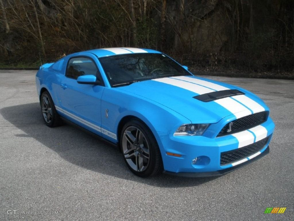 2011 grabber blue ford mustang shelby gt500 coupe 76499955