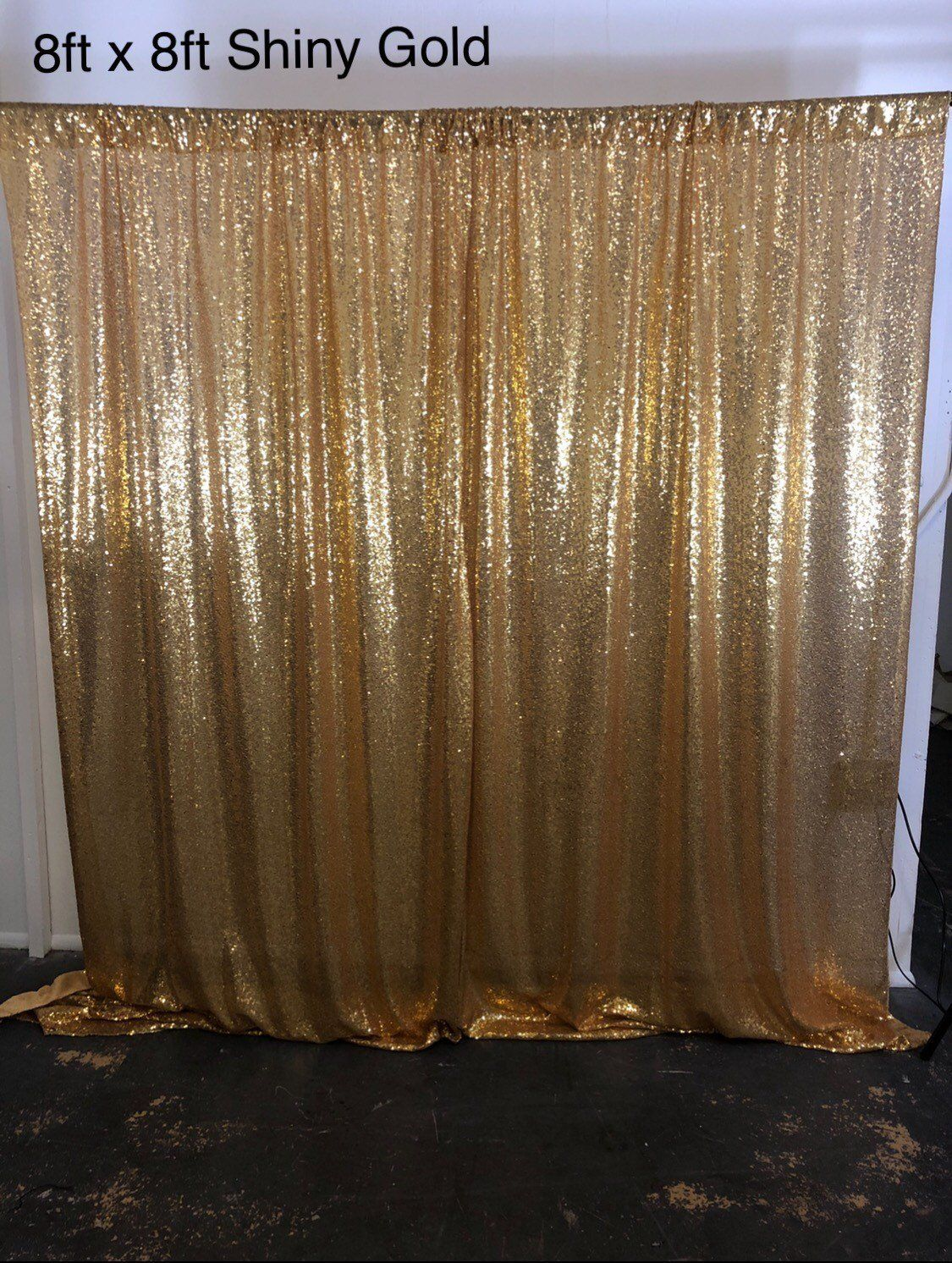 Gold Sequin Photo Backdrop Sequence Wedding Booth Photography Background Glitz Fabric Curtain Diff Colors By