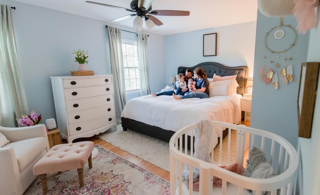 The Sweetest Little Nursery Nook In A Master Bedroom Project Nursery Bedroom Nook Master Bedroom Nursery Nursery Guest Room