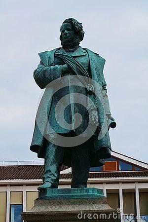 Daniele Manin bronze statue in a beautiful square, in Venice, Italy.