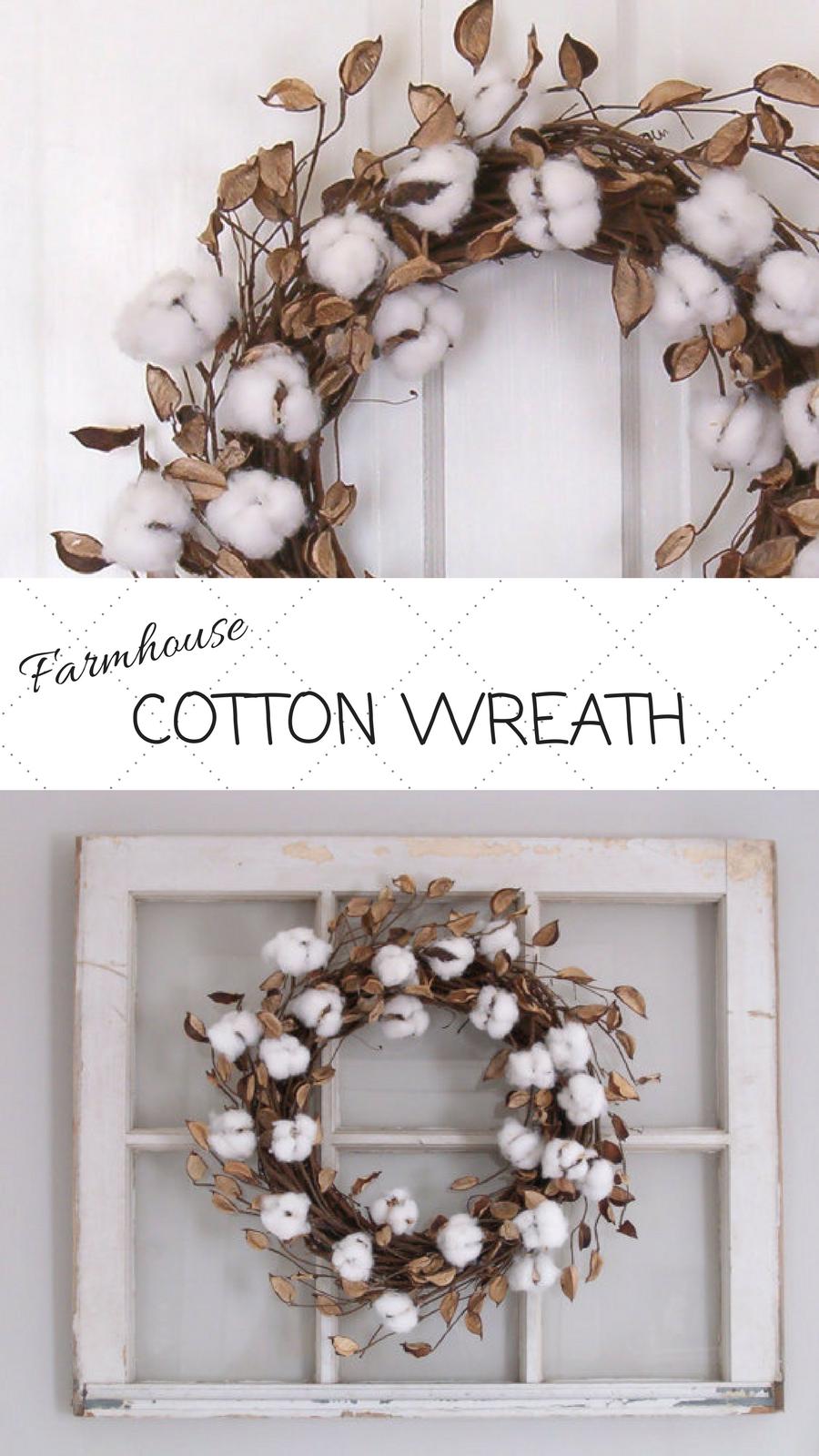 Cotton Wreath Cotton Ball Wreath Farmhouse Decor Farmhouse Wreath Front Door Wreath Wall Decor Afflink Old Door Decor Cotton Decor Cotton Wreath