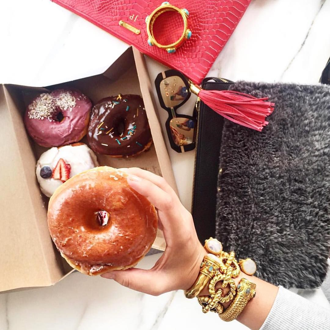 Treat yourself Tuesday's! @mystylediaries has us hungry for more than just donuts ✨ Click the link in our bio to get her delicious arm candy!