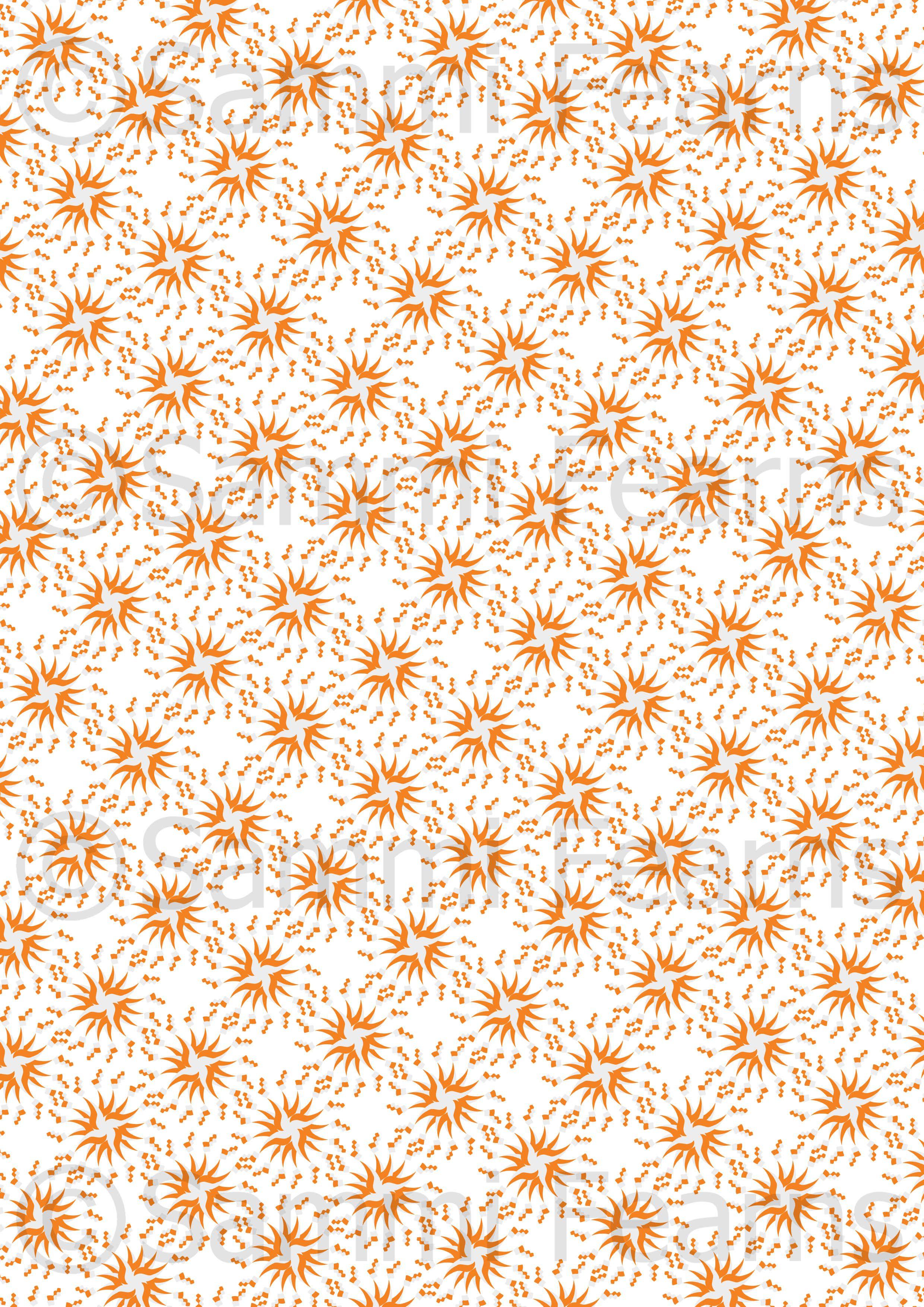 Orange silhouette design