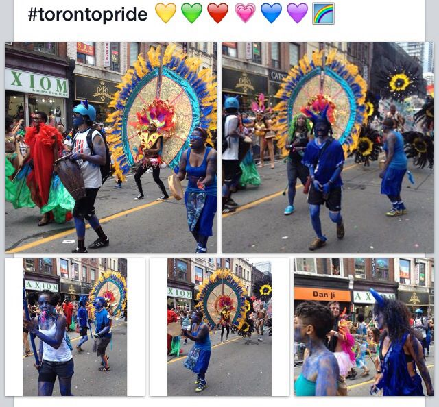 #They show their colour, they show their pride. It's the parade you shouldn't miss. Colourful, beautiful and amazing. #torontopride