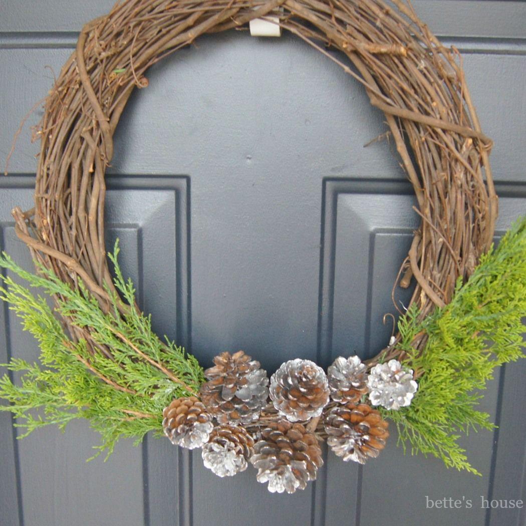 simple rustic christmas wreath