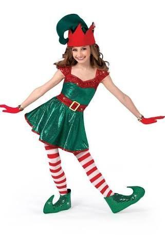 Elf ni a disfrases de navidad - Disfraz navideno nina ...