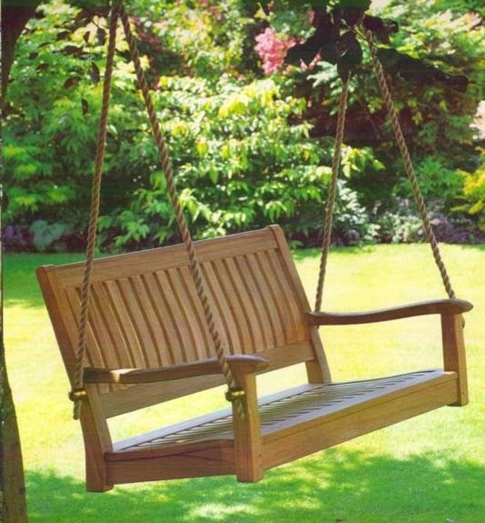 Teak Wood Swinging Porch Bench