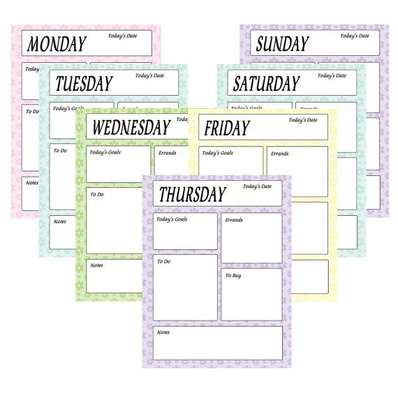 Printable To Do Sheets - Daily Planner Sheets - Instant Download - daily planner sheets