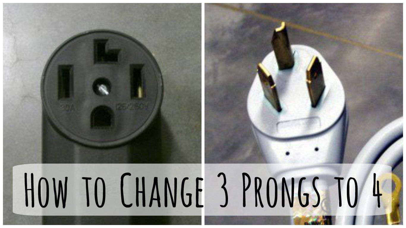 Changing A 3 Prong Dryer Plug And Cord To A To 4 Prong Cord Dryer Plug Plugs
