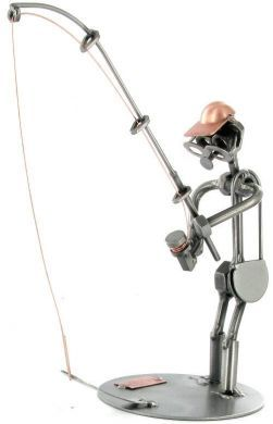 Fishing Nuts and Bolts Figure
