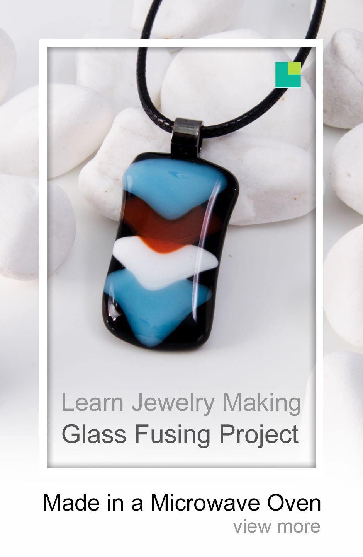 DIY Fused Glass Earrings in Microwave