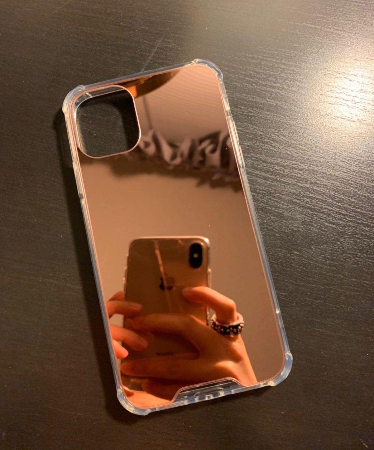 Iphone 11 Rose Gold Mirror Phone Case In 2020 Rose Gold Phone Case Print Phone Case Gold Phone Case