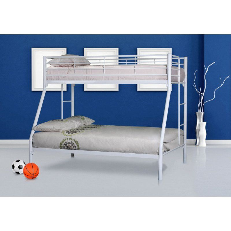 Colorado Trio Tubular Steel Bunk Bed In Gloss White For The Kids