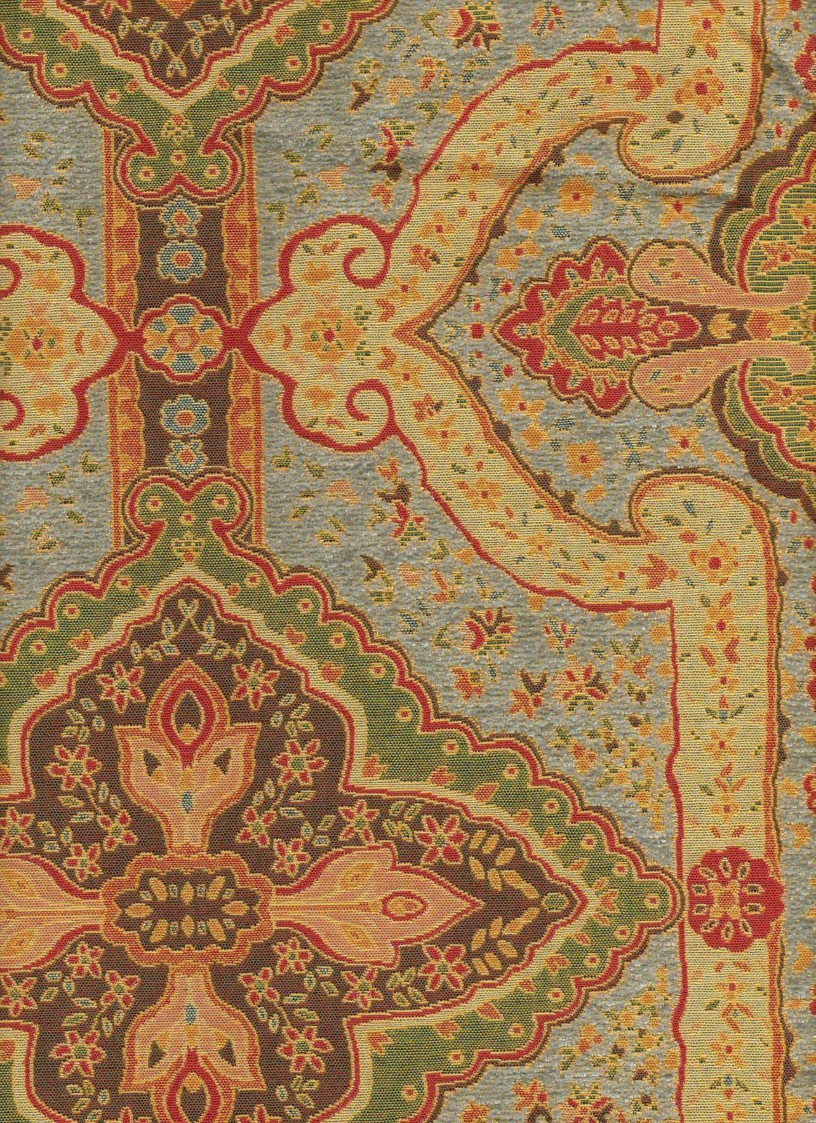 Vintage Pumpkin Chenille Upholstery Fabric Buyfabrics Com Baku