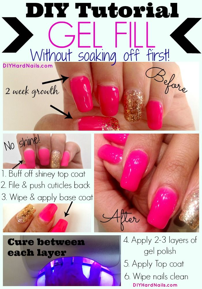 Super easy DIY gel fill to refresh your (natural) nails for another ...