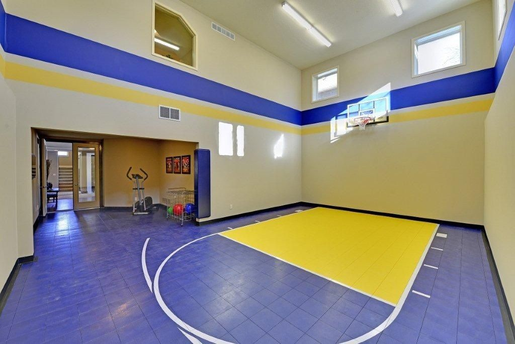 Beautifully designed indoor home gym! Sport Court North. | Indoor ...