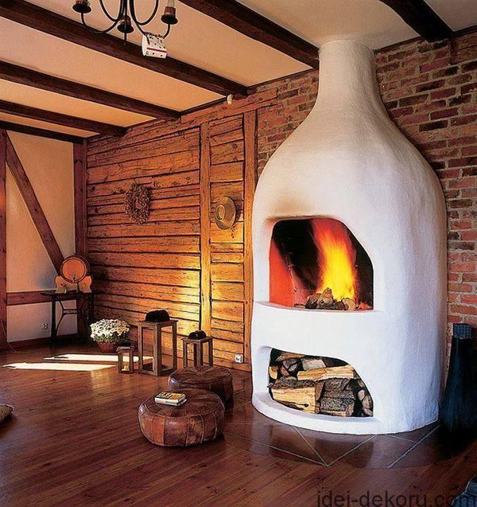 Сучасні пічки з лежанками(67 фото) | Fireplace, Cob house ...