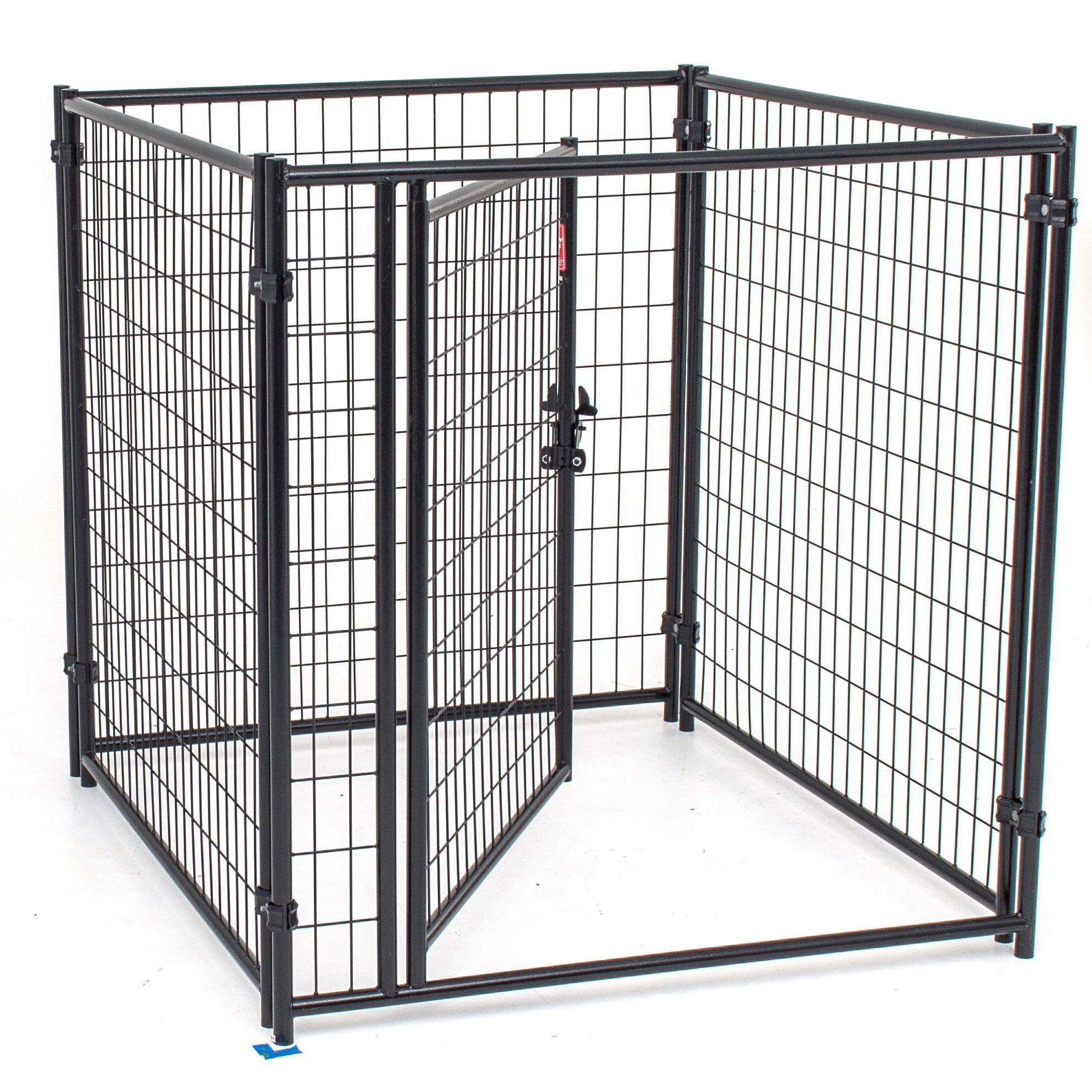 Lucky Dog 4 Foot Modular Welded Steel Wire Dog Kennel Kit 4 Feet