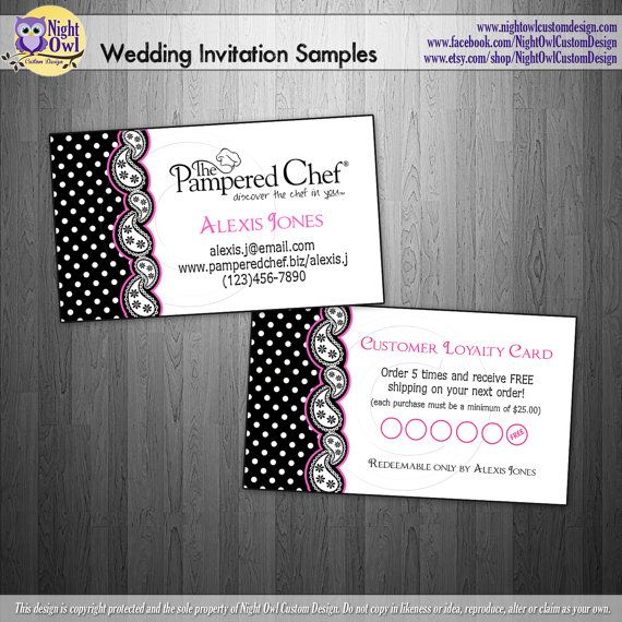 Pampered Chef Consultant Or Director Business Cards Frequent Er Reward Punch Card