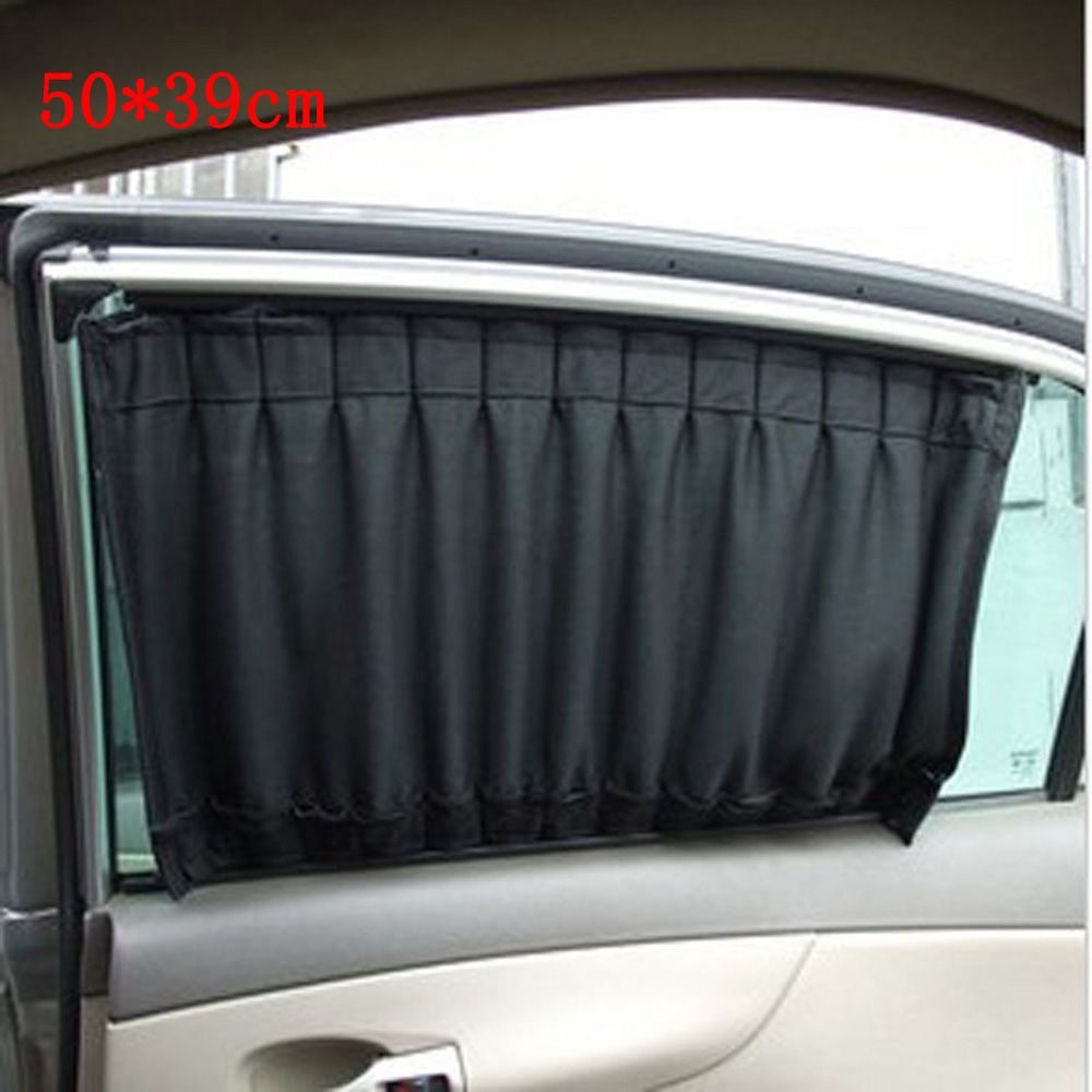 Car interior curtains - 2pcs 50 39cm Universal Car Sun Shade Car Window Sunshade Uv Proof Side Window Sun