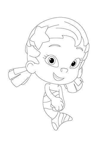 Oona Is Shy Today Coloring page   Bubble Guppies   Pinterest ...