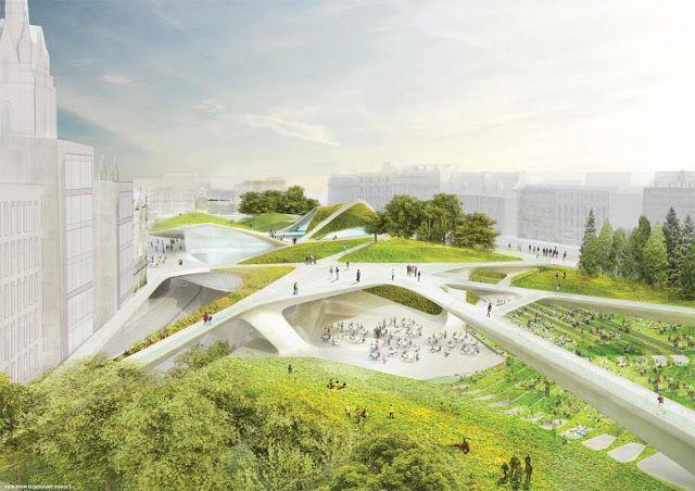 a f a s i a Diller Scofidio + Renfro  Keppie Design  OLIN green - Bao Contemporaneo