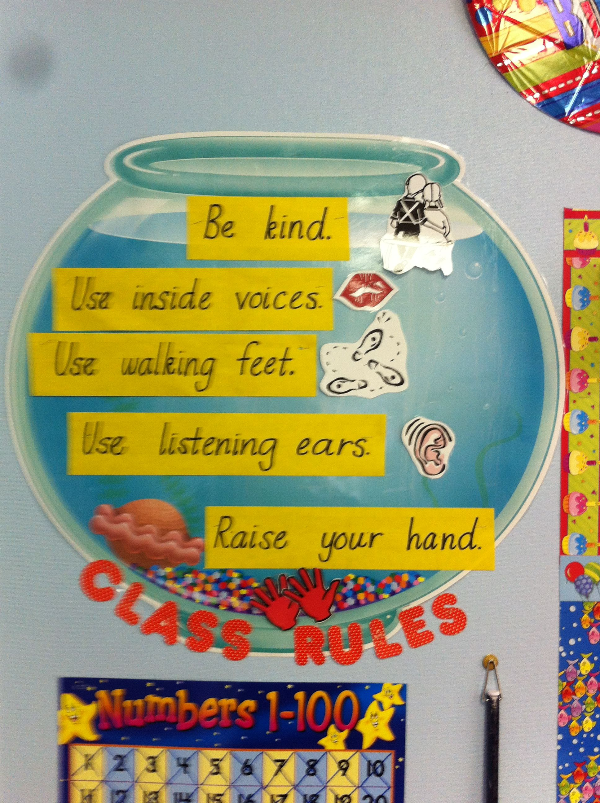 Fish Bowl Of Rules Cute With An Ocean Themed Classroom