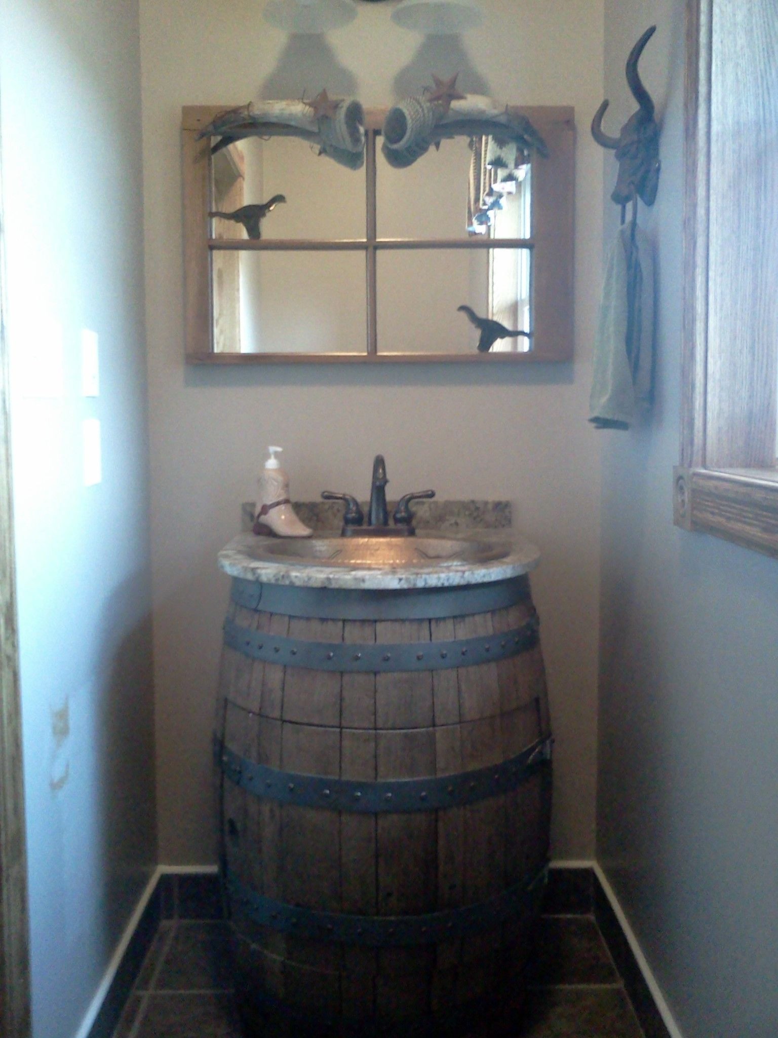 Wine Barrel Sink  Bathroom Sink  Pinterest  Wine Barrel