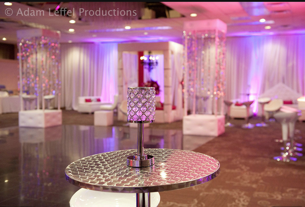 LumiSource Bistro Bar Table in this event design by Adam Leffel Productions