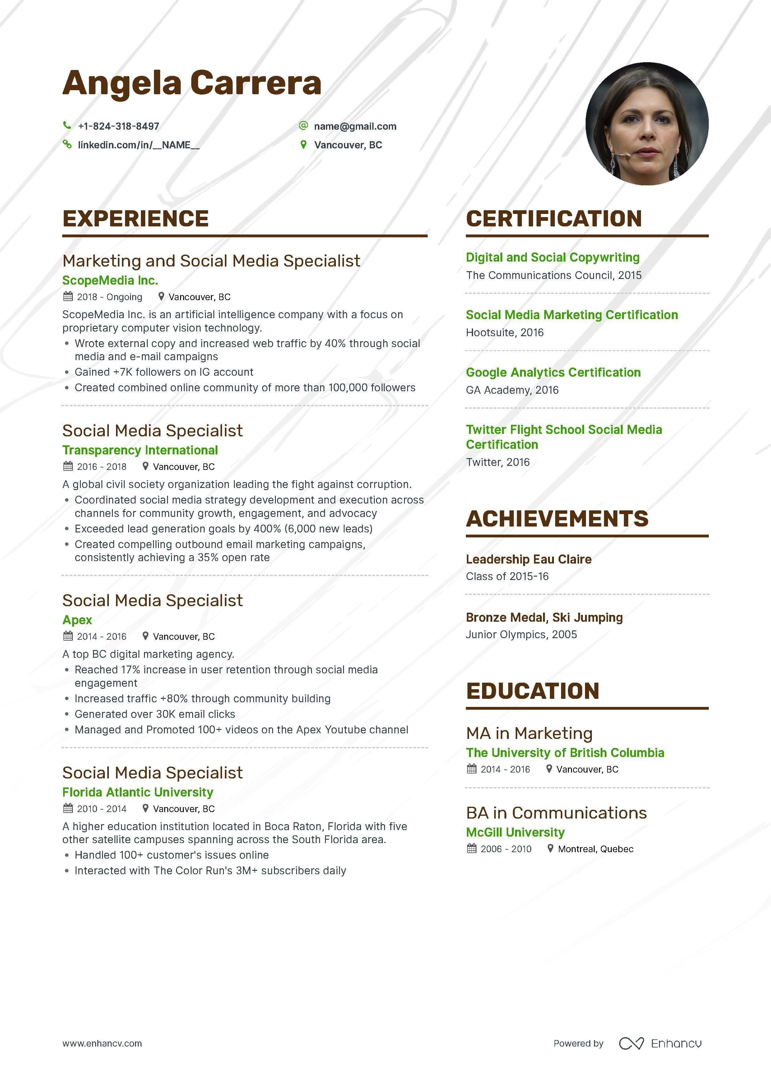 Social Media Marketing Resume Samples Expert Tips Marketing Resume Social Media Marketing Resume Examples