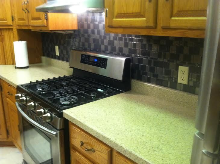 New Counter Top And New Peel And Stick Backsplash, By Our Friends At  Surface Magic.