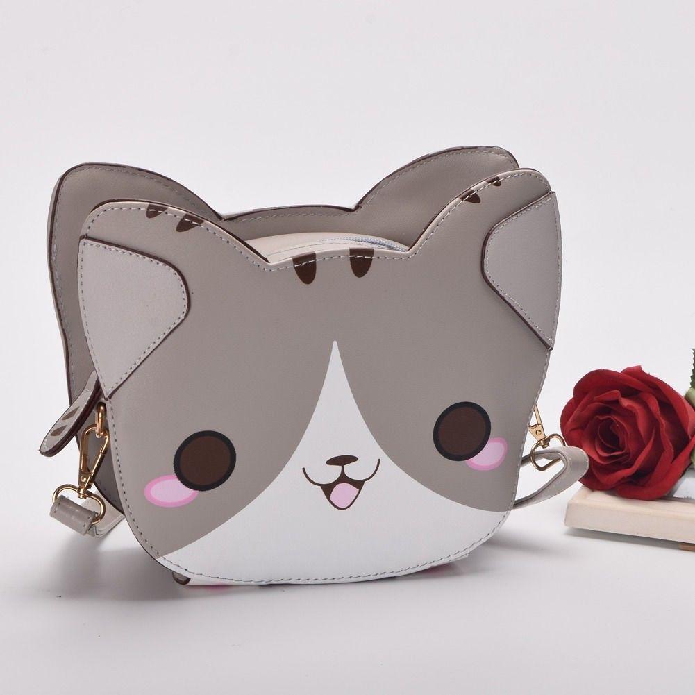 Cute Neko Atsume PU Cosplay Cross-body Cat Backyard Shoulder Bags Messenger  Bag 520181176603  2e482b3ced293