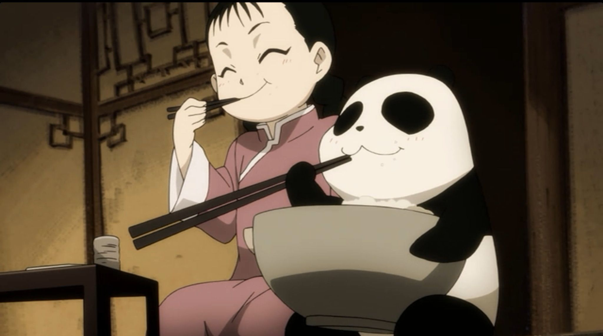 Fullmetal Alchemist scene featuring May Chang and Xiao Mei, doing basically what the gremlin did.