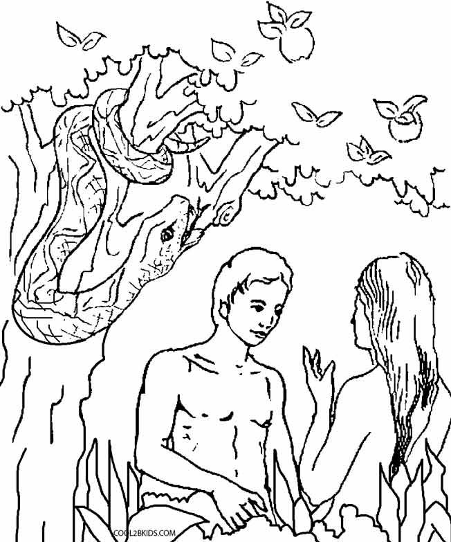 Printable Adam and Eve Coloring Pages For Kids | Cool2bKids ...