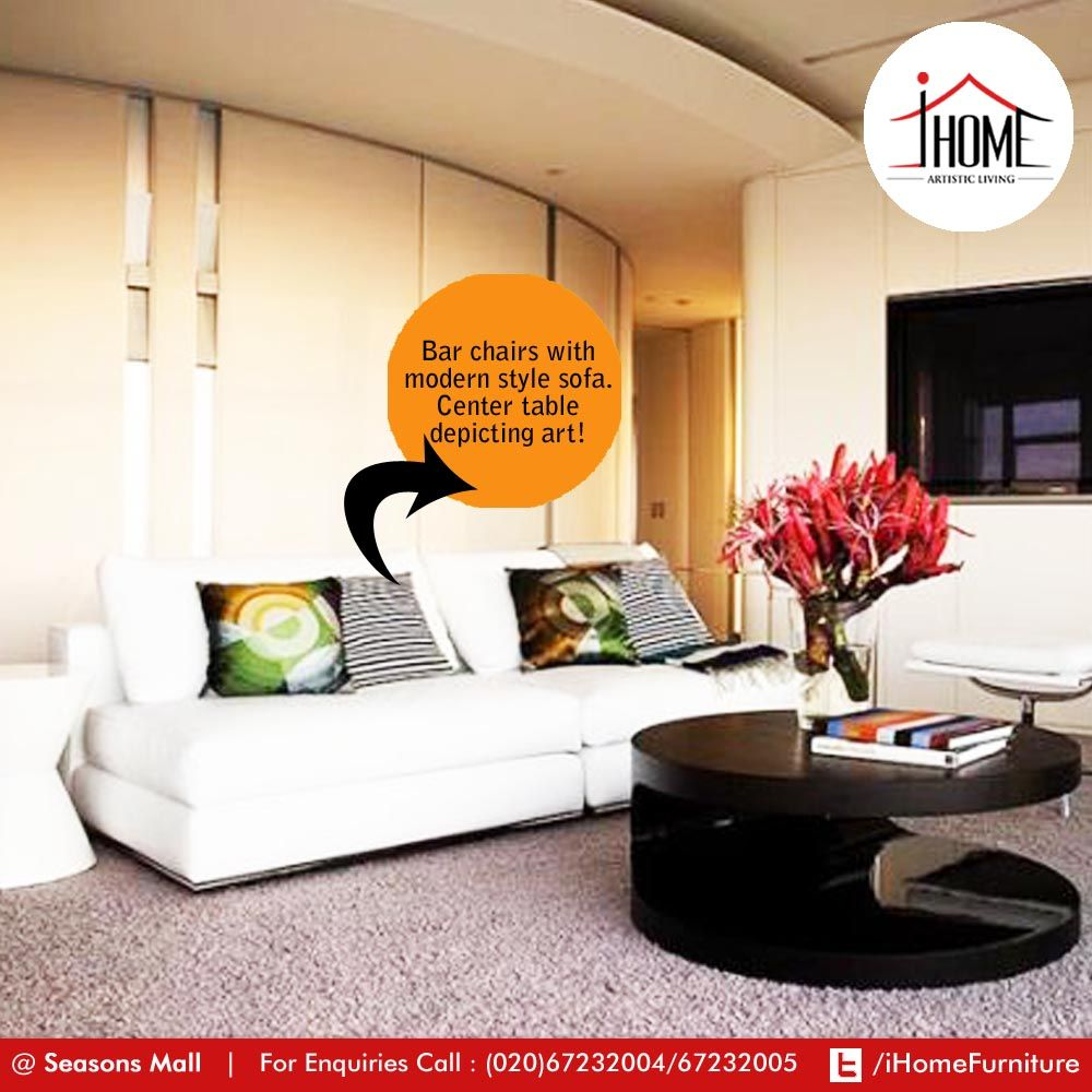 Floored carpet in an apartment home? Keep it real with just the needed furniture!   #iHome #ArtisticLiving #Furniture #Pune