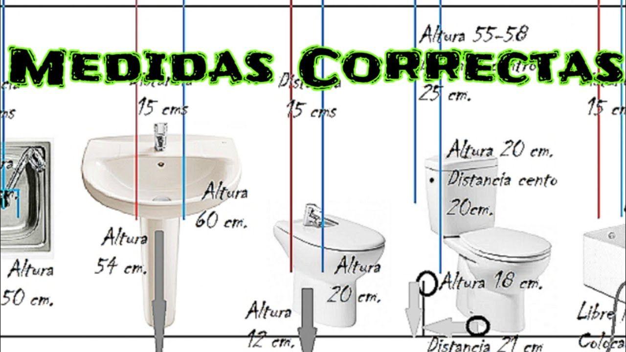 Medidas Correctas De Las Tomas De Agua Y Desagües De Una Vivienda Medidas De Inodoros Tubo De Fontanería Instalacion De Agua