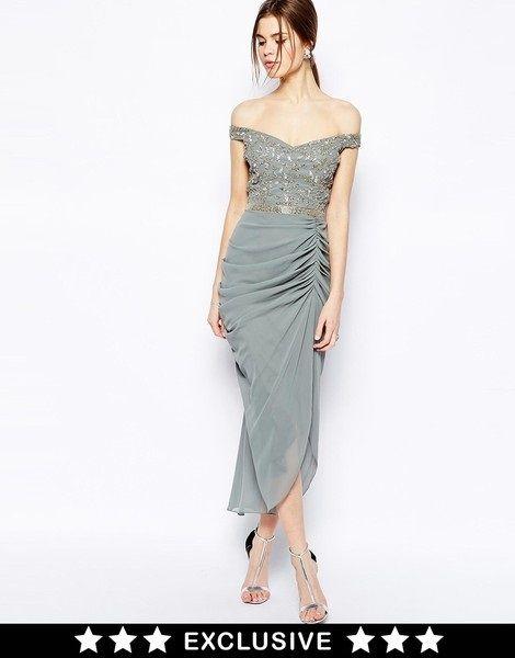 As7 Virgos Lounge Asos Wyszywana Sukienka 36 S 5210448780 Oficjalne Archiwum Allegro Embellished Midi Dress Wedding Outfits For Women Dresses