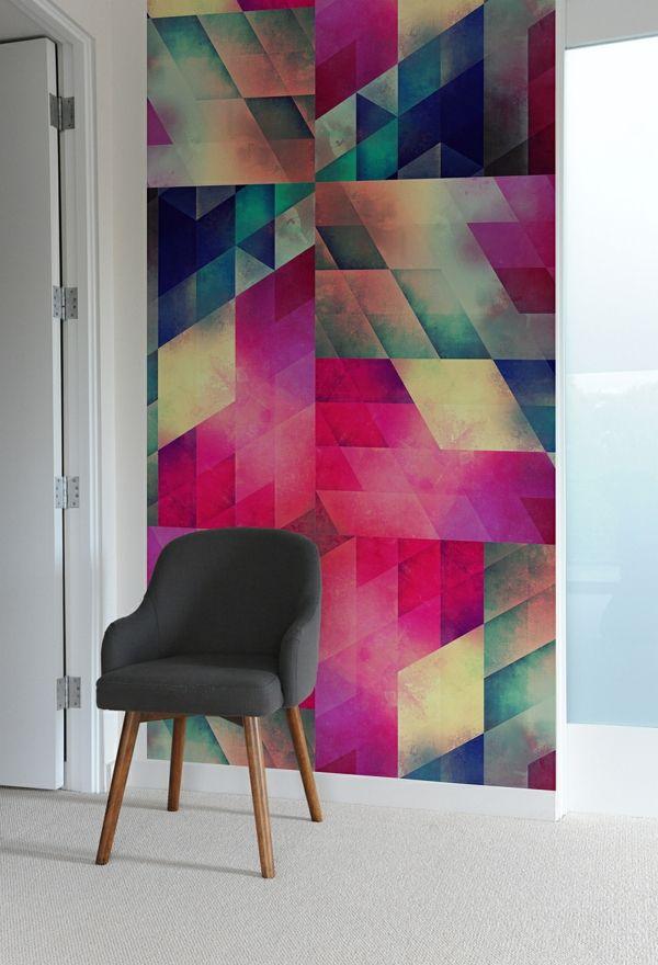 geometrische abdrucke im innendesign Wände streichen Pinterest - wandgestaltung quadrate beispiele