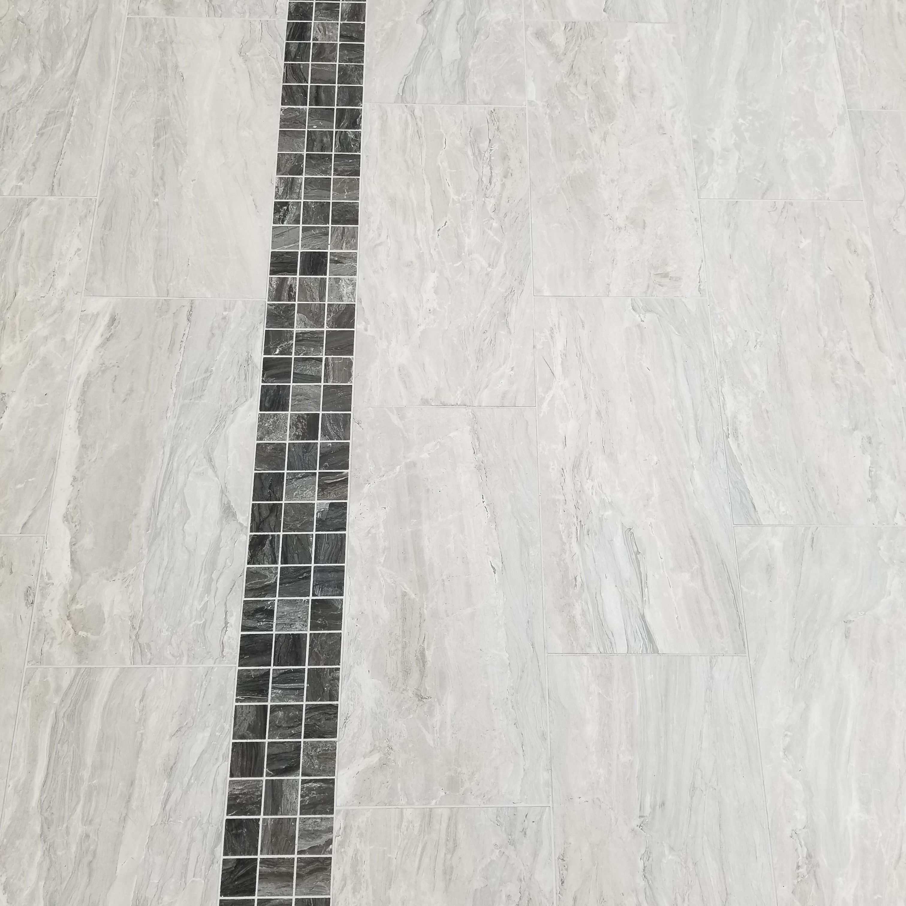 Gemstone Silver 12x24 With Gemstone Mink 2x2 Accent Band Flooring Store Tile Stores Porcelain Tile