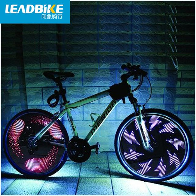 Leadbike Bicycle Wheel Light Double Display 21 Flash Patterns With